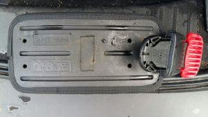 Bleitasche im E-See am 14.8. verloren, Nähe Einstieg, am Knotenpunkt der beiden Leinen